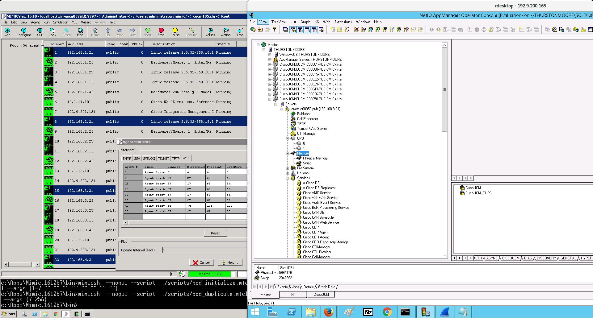 MIMIC WEB Module Compatibility